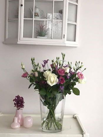 Bloemen van klant